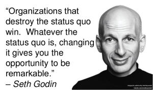 Organizations that destroy the status quo win.