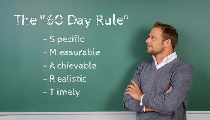 The 60 Day Rule Specific Measurable Achievable Realistic Timely