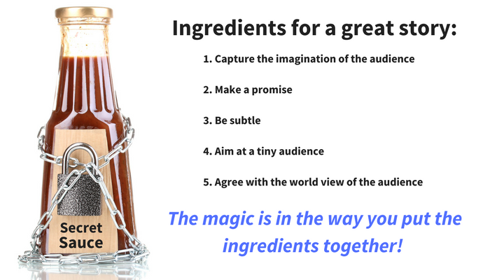 Ingredients for a good story